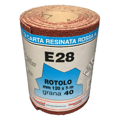 CARTA VETRATA  E28 MM120X5 MT GR040 scatola da 24 PZ