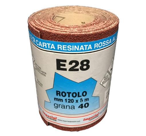 4 CARTA VETRATA E28 MM 120X5 MT GR040 SC.24 PZ