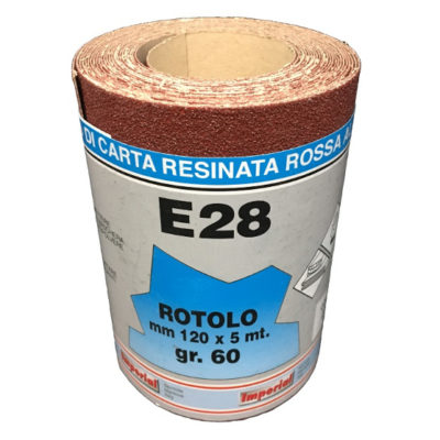CARTA VETRATA E28 MM120X5 MT GR060 scatola da 24 PZ