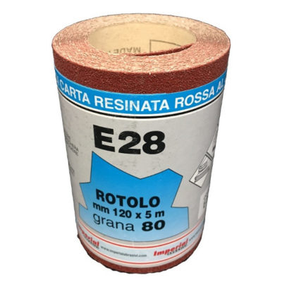 CARTA VETRATA E28 MM120X5 MT GR080 scatola da 24 PZ