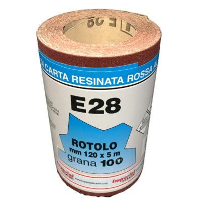 CARTA VETRATA E28 MM 120X5 MT GR100 scatola da 24 PZ