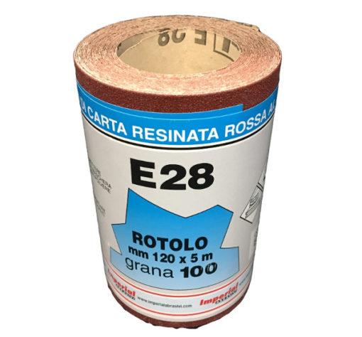 7 CARTA VETRATA E28 MM 120X5 MT GR100 SC.24 PZ