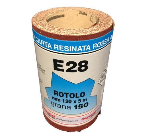 9 CARTA VETRATA E28 MM 120X5 MT GR150 SC.24 PZ