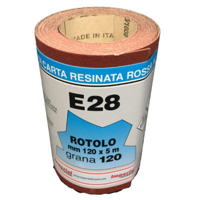 CARTA VETRATA E28 MM 120X5 MT GR120 scatola da 24 PZ